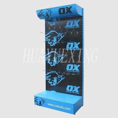 Stable multi-layer black and blue metal OX tool display stand HYX-014