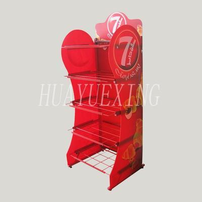 Multifunctional custom five shelves red metal cake display stand HYX-013
