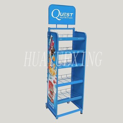 Floor stand metal pos snacks display rack HYX-002