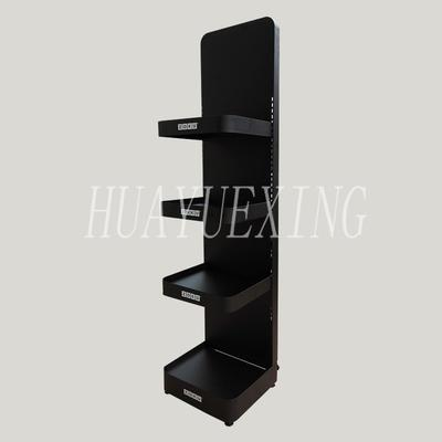 New style black three shelves metal water bottle display stand HYX-019