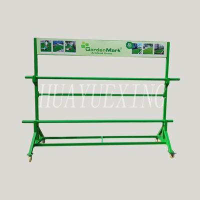 Free standing two shelves green metal fabric display stand HYX-025